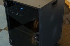 Mobiles Rack in Aula inkl. Anschluss Desk