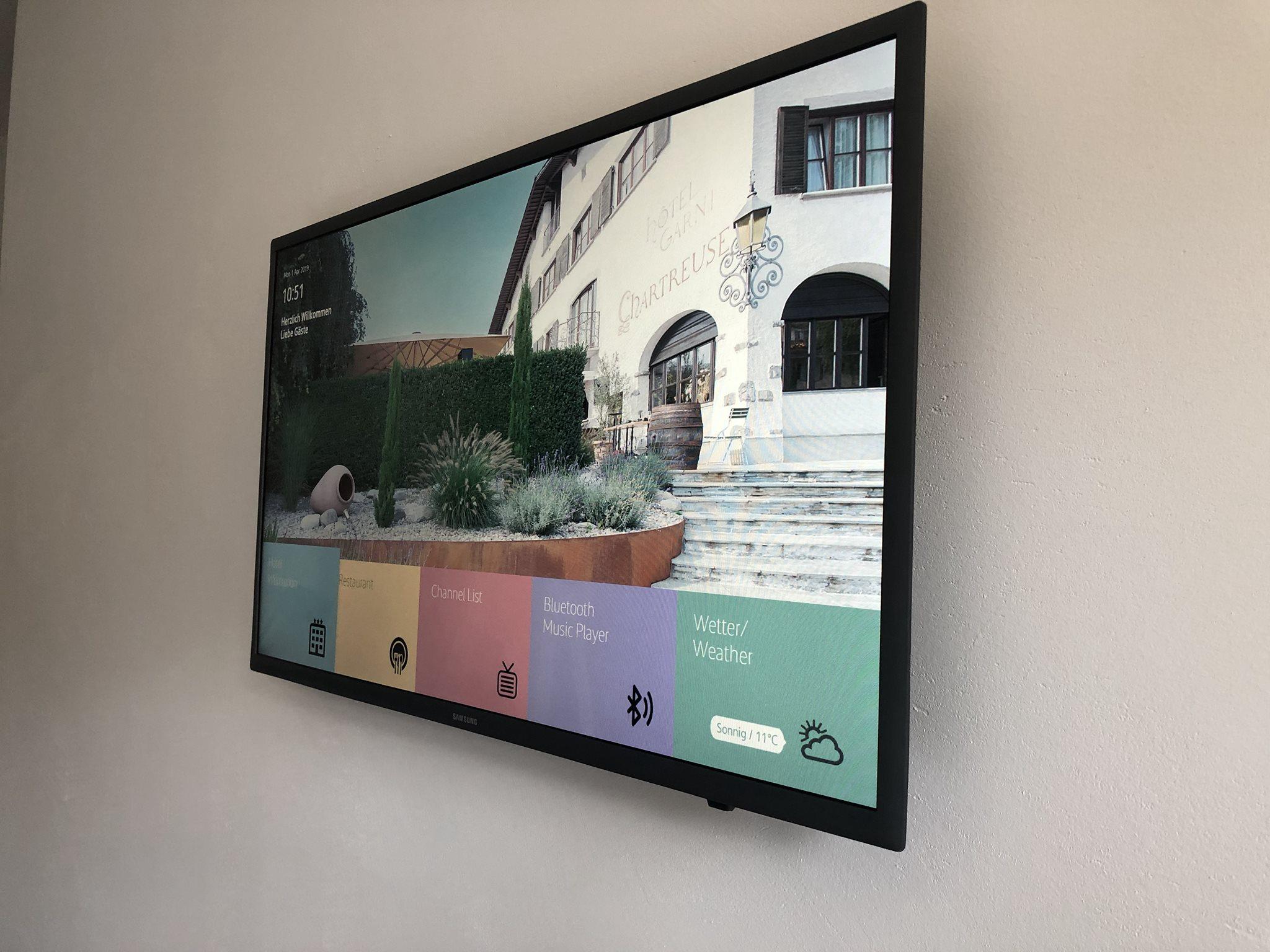 Hotel Chartreuse Thun mit Interaktivität